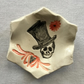Halloween. Day of the Dead Ring Dish. Incense Cones Dish,Skull Goths.Bikers