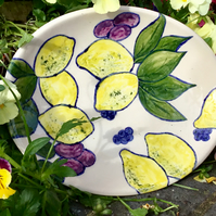 Fruit Bowl. Handmade and Freehand Painted. Tableware. Fruit. Serving Dish. Home