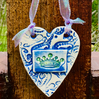 Valentines Gift. King,Queen of my Heart. Anniversary Gift. Wedding Gift. Ceramic