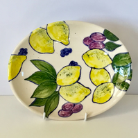 Fruit Bowl. Handmade and Freehand Painted. Mother's Day Gift. Valentines Gift.