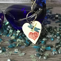 Love Heart and Dragonfly Key Ring. New Home Gift.Mother's Day Gift. Moving In Gi