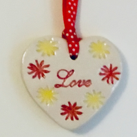 Valentines Gift. Love Heart. Handmade Ceramics. Mother's Day Gift