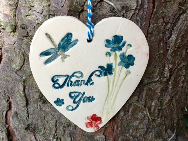 Thankyou Gift. Teacher Gift. Love. Wall Hanger. Wall Decor. Heart. Ceramic.