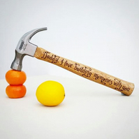Hand engraved hammer personalised with your own messages