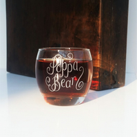 Personalised whisky tumbler gift hand engraved with your message