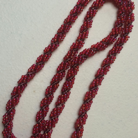 Spiral rope in reds and purples