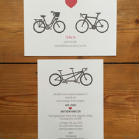A bicycle made for two... save the dates and or invites