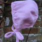 Newborn Baby's Traditional Style Pink Bonnet