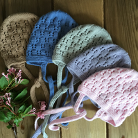 Hand Knitted Traditional Style Bonnet