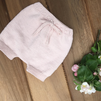 Pure Wool Hand Knitted Baby Shorts