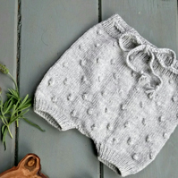 Baby's Hand Knitted Merino Wool Grey Shorts