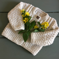 Handmade Cotton Baby Cardigan