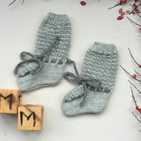 Cosy Knitted Long Baby Socks, Booties