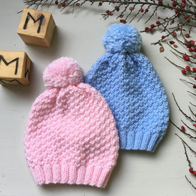 6fa73fcbd39 Hand Knitted Wool Bobble Hat for Babies and Toddlers
