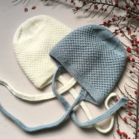 Knitted Bonnet for Babies and Toddlers