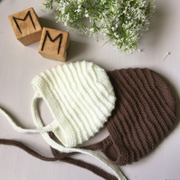Handmade Ribbed Patterned Bonnet