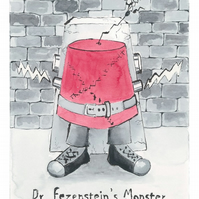 Giclee Print - Dr. Fezenstein's Monster Illustration