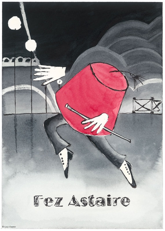 Giclee Print - Fez Astaire Illustration