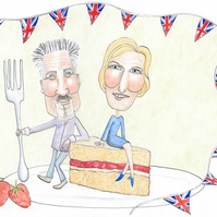 A2 Giclee Print - Paul Hollywood & Mary Berry