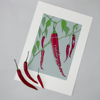 Chilli Flute - Limited Edition Giclee Print