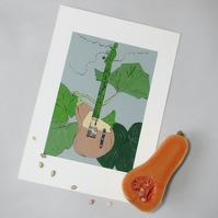 Butternut Squash Guitar - Limited Edition Giclee Print