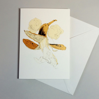 Banana. Greetings Card. Funny Poetry Card.
