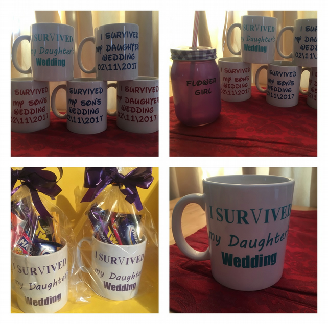 I survived my daughters, sons wedding wrapped, personalisation available