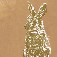 Hare by Barbara Smith - screen print serigraph