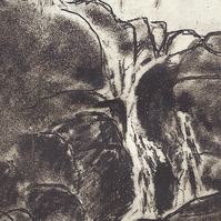 Waterfall by Barbara Smith - photopolymer etching photographic