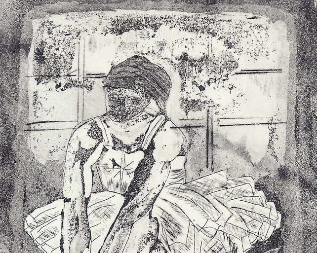 Ballet Dancer by Barbara Smith - acrylic resist etching aquatint