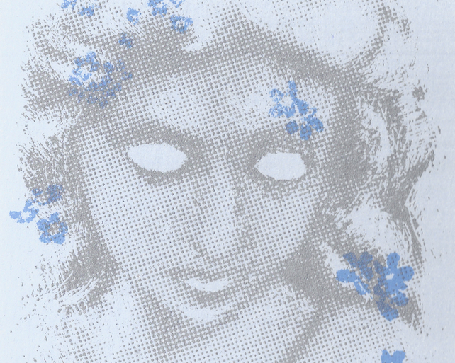 Forget-Me-Not (Blue) by Raj Sahota - screen print serigraph