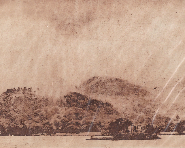 Misty Ullswater by Barbara Smith - photopolymer etching photographic