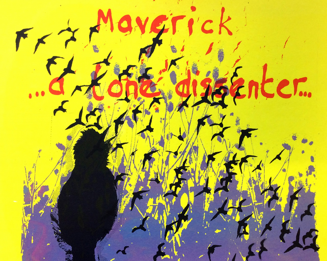Maverick – Being Deserted by Raj Sahota - screen print serigraph