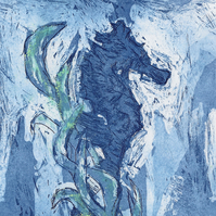 Seahorse by Sarah Bithell - Electro Etching