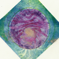 Squaring the Circle by Anna Johnson - Acrylic Resist Etching