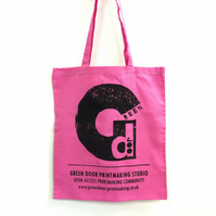 Green Door Printmaking Studio - Tote Bag - Long Handles