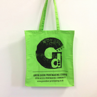 Green Door Printmaking Studio - Tote Bag - Long Handles with Gusset