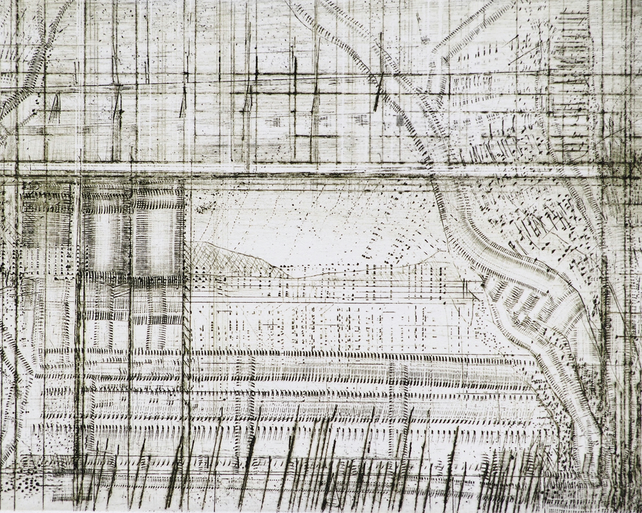 Bridge Series by Alan Jenkins - drypoint on copper