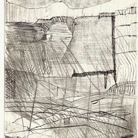 Storm by Alan Jenkins - drypoint on copper