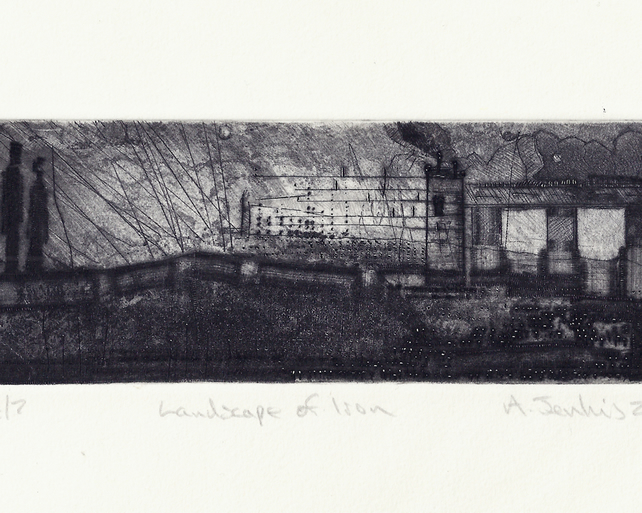Landscape of Iron by Alan Jenkins - Drypoint on Steel with Salt & Vinegar Bite