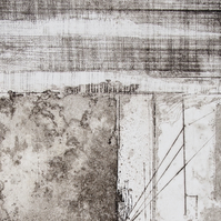 Time Lines No.2 by Alan Jenkins - Drypoint on Copper