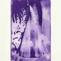 Wigwam by Christine Stangroom - Photopolymer etching from wax