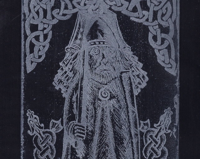 Norse Bell Dream by Christine Stangroom - Acrylic resist etching