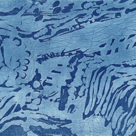 Flow by Christine Stangroom - Acrylic resist etching lift ground
