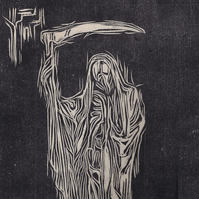 The Reaper by Kevin A. Pickering - Woodcut