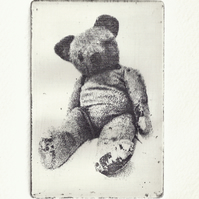 Ted by Kevin A. Pickering - Photopolymer gravure