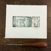 Wee Sweetie No. 2 by Anna Johnson - Photopolymer Etching