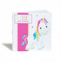 Personalised Rainbow Unicorn Notebook