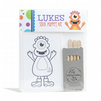 Personalised Monster Stick Puppet Kit