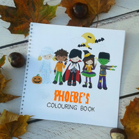 Personalised Halloween Colouring Book